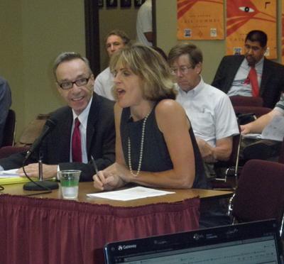 Presenting at a legislative committee meeting
